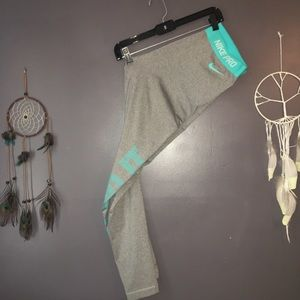 Nike Dri Fit Gray and Blue Just do it Legging XL